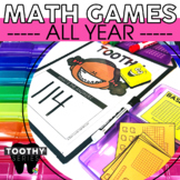 1st and 2nd Grade Math Toothy® Task Cards Bundle | Math Games | Math Centers