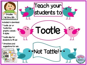 Tootle Jar- A Great Way to Teach Students to Stop Tattling
