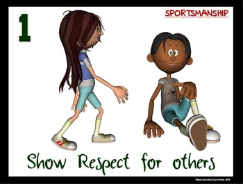 Top 10 Characteristics of Good  Sportsmanship- 10 Printable Signs for PE