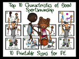 Top 10 Characteristics of Good  Sportsmanship- 10 Printabl