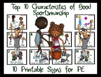 Top 10 Characteristics of Good  Sportsmanship- 10 Printabl