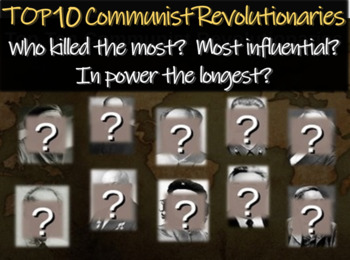 Top 10 Communist Revolutionaries (based on many factors):  Engaging 31-slide PPT