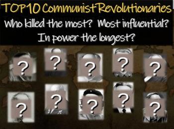 Top 10 Communist Revolutionaries (based on many factors):