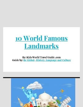 Top 10 Famous Landmarks In the World -  Reading Research Guide