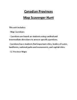 Top 10 Largest Countries in the World Map Scavenger Hunt