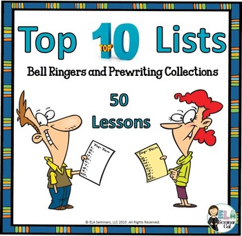 Writing from Top 10 Lists: Bell Ringers and Prewriting Collections