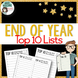 End of the Year Writing - Top 10 List Activity