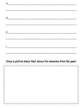 Top 10 Memories from Kindergarten (End of Year Writing Prompt)