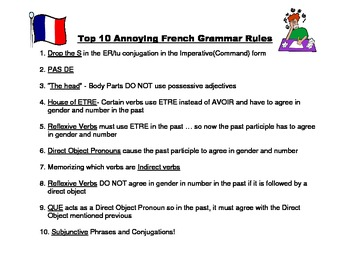 Top 10 Most Annoying French Grammar Rules