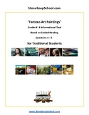"Distance Learning, Guided Reading A-Z: ""Famous Art Paintings"" For TS"