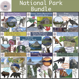 Top 10 Most Visited National Parks Clipart Bundle