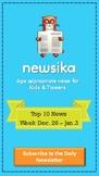 Top 10 News for Week Dec. 26 - Jan.1 for Grades 3 & 4