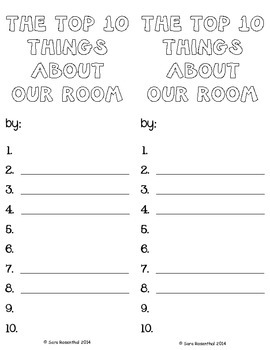 Top 10 Things About Our Room