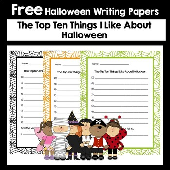 Top 10 Things I Like about Halloween Freebie!