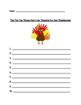Top 10 Things I am Thankful for this Thanksgiving