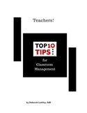 Top 10 Tips for Classroom Management