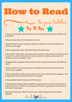 Top 10 Tips for Reading with Babies, Toddlers, and Pre-Schoolers