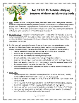 Dyslexia: Top 10 Tips for Teachers Helping Students