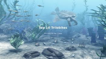 Top 10 Trilobites - power point - view pictures of 10 top trilobites