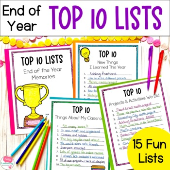 Top 10 Lists- End of the Year Memories