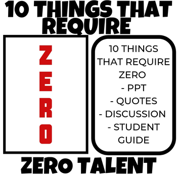 Top 10 things that REQUIRE ZERO talent PPT FREE!