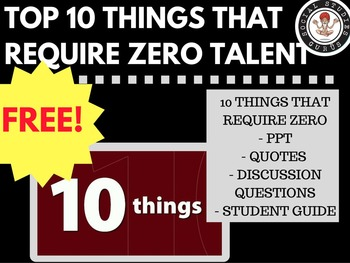 Top 10 Things That Require Zero Talent Ppt Free By Social Studies