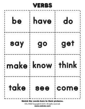 Top 100 Verbs: Grammar Cards