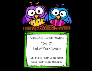 Top 10s - Science and Social Studies Review (Fourth Grade)