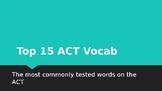 Top 15 ACT Vocab Activity