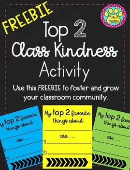 Top 2 Class Kindness Activity