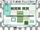 Top 20 Bulletin Board Items