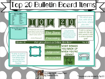 Top 20 Bulletin Board Items