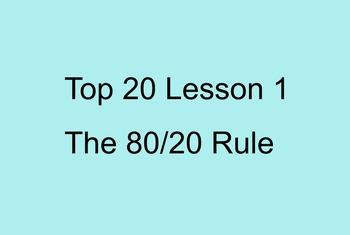 Top 20 Lesson 1 (Primary Version)