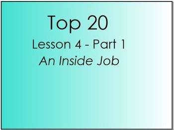 Top 20 Lesson 4, Part 1 (Primary Version)