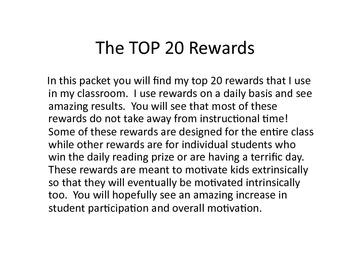 Top 20 Rewards for Kids
