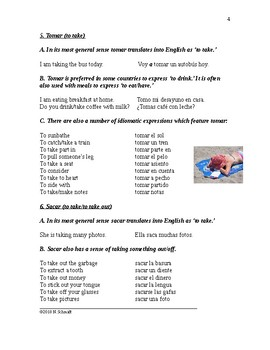 Top 20 Spanish Verbs: Common Uses and Idioms: EDITABLE (12 pages)