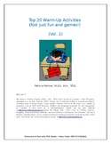 Top 20 Warm Up Activities - Not Just Fun and Games (Vol 1)