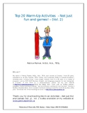 Top 20 Warm Up Activities - Not Just Fun and Games (Vol 2)