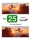 PBLA/LINC: Top 25 Jobs in Canada: A One Page Webquest