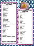 Top 25 Tools and Foods to Teach Fractions-Chart