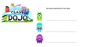Class Dojo - Top 3 Dojo Earners