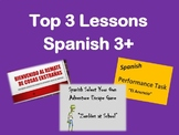 Top 3 Lessons for Spanish 3, Escape Room, Commercial Project, Auction Simulation