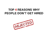 Top 4 Reasons People Don't Get Hired & Looking Appropriate
