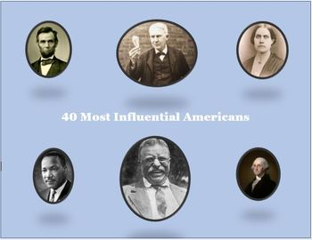 Top 40 Influential Americans (list and pictures) since 1776