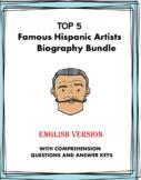 Hispanic Artists Biography Bundle: Top 5 Kahlo, Rivera, Dalí, Picasso (English)