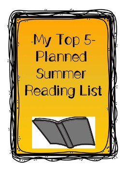 Top 5 Planned Summer Reading List