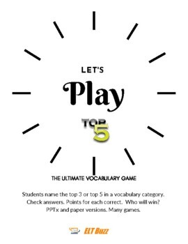 Top 5 Vocabulary Game