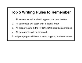 Top 5 Writing Rules to Remember
