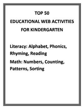 Top 50 Educational Websites for Kindergarten Computer Centers