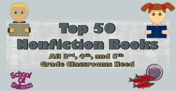 Top 50 Nonfiction Books That All 3rd, 4th, and 5th Grade Classrooms Need